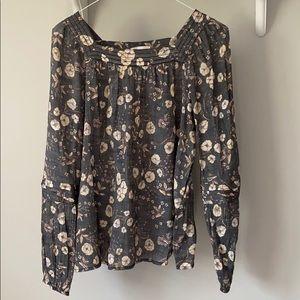 LC Lauren Conrad floral blouse